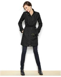 Cole Haan Belted Quilted Jacket - Lyst