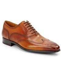 ... Burnished Calfskin Leather Wingtip Shoes Lyst. Banana Republic Ben Oxford In Black For Men Lyst
