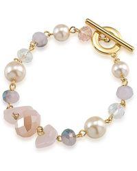 Carolee - Gemstone Garden Mixed Bead Bracelet - Lyst