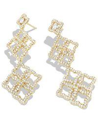 David Yurman Venetian Quatrefoil Cluster Earrings with Diamonds in Gold - Lyst