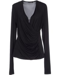 Donna Karan New York Blouse black - Lyst