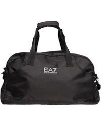 Emporio Armani Nylon Canvas Duffle Bag - Black