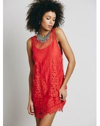 Free People Dove Party Dress - Black red - Lyst