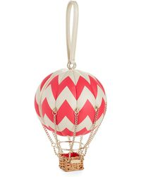 Kate Spade Leather Balloon Clutch - Lyst