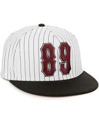 Topman White Striped Baseball Cap - Lyst