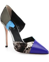 Fendi Anita Calf Hair & Leather Point-Toe D'Orsay Pumps - Lyst