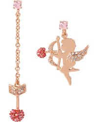 Betsey Johnson - Valentines Day Cupid And Arrow Mismatched Earrings - Lyst