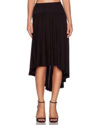 Splendid High Low Maxi Skirt - Lyst