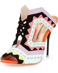 Sophia Webster Riko Colorblock Slide Sandal - Lyst