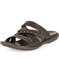 John Varvatos - Tobago Stitched Slide Sandal - Lyst