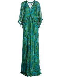 Issa Green Long Dress - Lyst