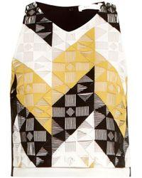 A.L.C. Grace Geometric-Lace Cropped Top - Lyst