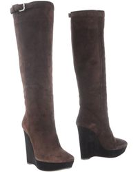 Prada | Suede Knee-High Boots | Lyst
