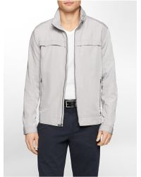 Calvin Klein White Label Classic Fit Hooded Twill Jacket - Lyst
