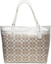 Coach Key Items Printed Signature Tote - Lyst