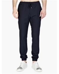 Marc Jacobs Men'S Wool-Blend Casual Trousers blue - Lyst