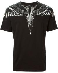 Marcelo Burlon Feathers Print T-Shirt - Lyst