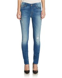 7 For All Mankind Mid-rise Skinny Jeans - Lyst