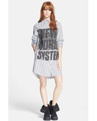 Marc By Marc Jacobs Graphic Shirtdress - Lyst