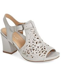 Earthies® 'Acadia' Leather Open Toe Sandal gray - Lyst