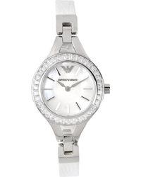 Emporio Armani Silver Wrist Watch - Lyst