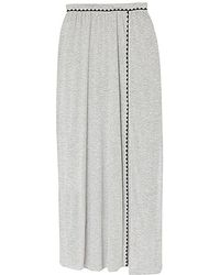 Olive & Oak - Embroidered Knit Maxi Skirt - Lyst