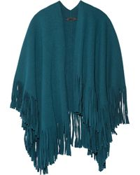 Burberry Prorsum - Fringed Wool-blend Felt Poncho - Lyst