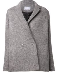 T By Alexander Wang Gray Oversized Jacket - Lyst