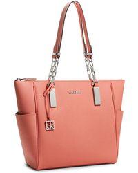 Calvin Klein White Label Scarlett Chain Handle Saffiano Leather Shopper Tote - Lyst
