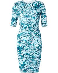 Whistles Mimosa Printed Side Gathered Dress - Lyst