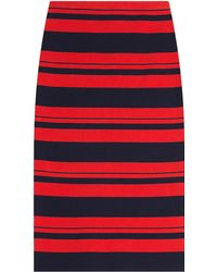 DKNY Striped Cotton Pencil Skirt - Lyst
