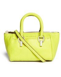 Diane von Furstenberg 'Sutra' Mini Duffle Deergrain Leather Crossbody Bag - Lyst
