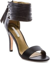 Twelfth Street by Cynthia Vincent Callie Woven Leather Lace Sandal - Lyst