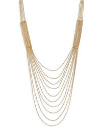 Panacea - Golden Nested Chain Necklace - Lyst