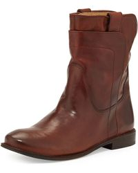 Frye Paige Leather Short Boot - Lyst