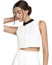Alice + Olivia Cropped Button Down - Lyst