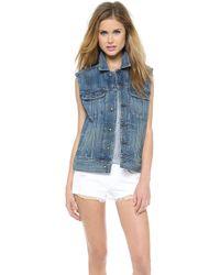 Rag & Bone Oversized Vest - Blue