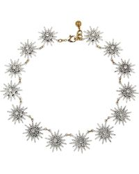 Lulu Frost Radiant Goldplated Crystal Necklace - Lyst