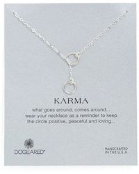 Dogeared 'Karma' Circle Lariat Necklace - Lyst