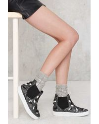 Nasty Gal | One Of A Shine Sequin Socks - Gray | Lyst