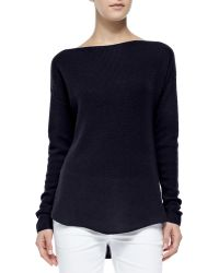 Vince Cashmere Ribbed Boatneck Sweater - Lyst