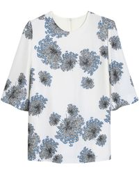 Mulberry Floral Bell Top - Lyst