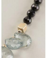 Uzerai Edits - Topaz & Black Spinel Necklace - Lyst