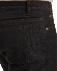 A.P.C. Jean Petit Standard Dark Blue Jeans blue - Lyst