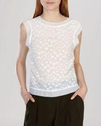 Karen Millen Top - Devore Dot white - Lyst