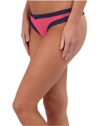 DKNY Signature Lace Thong - Lyst