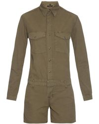 J Brand Avery Utility Playsuit - Natural