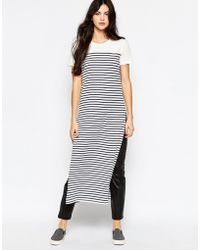 Wal-G - Longline Tunic In Stripe With Side Slits - Lyst