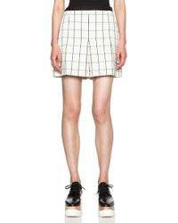 Proenza Schouler Pleated Viscose Suiting Shorts - White