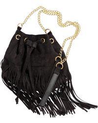 H&M Fringed Bucket Bag - Black